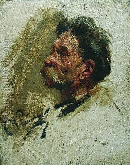 Portrait of a peasant by Ilya Efimovich Efimovich Repin - Reproduction Oil Painting