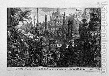 View of one of monuments in ancient Circus by Giovanni Battista Piranesi - Reproduction Oil Painting