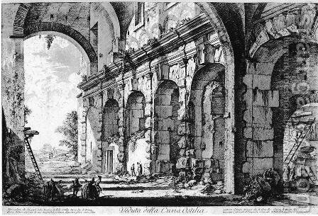 Vedute di Roma 16 by Giovanni Battista Piranesi - Reproduction Oil Painting