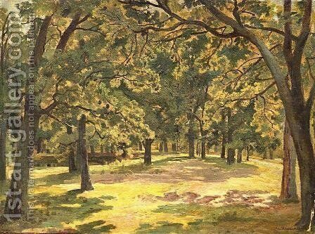 Oak forest by Ivan Shishkin - Reproduction Oil Painting