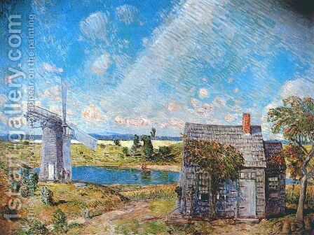 Old Long Island Landscape by Frederick Childe Hassam - Reproduction Oil Painting