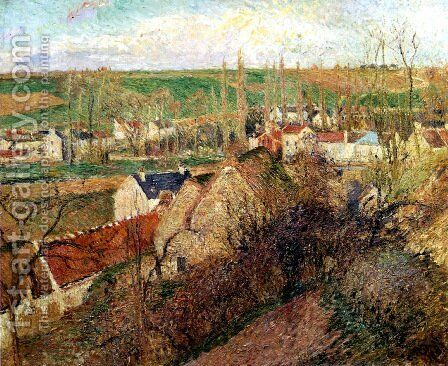 View of Osny near Pontoise by Camille Pissarro - Reproduction Oil Painting