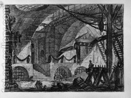 The Sawhorse by Giovanni Battista Piranesi - Reproduction Oil Painting