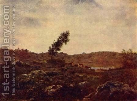 Look at Barbizon by Theodore Rousseau - Reproduction Oil Painting