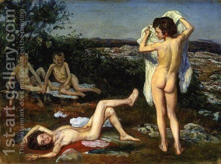 Four nude boys by Alexander Ivanov - Reproduction Oil Painting
