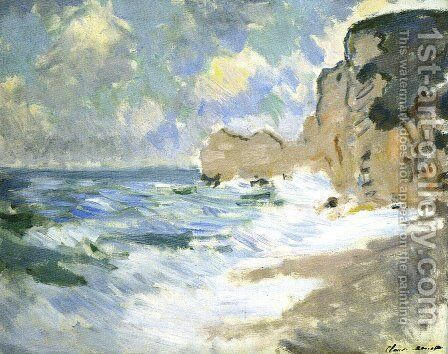 Receding Waves by Claude Oscar Monet - Reproduction Oil Painting
