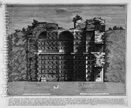 The Roman antiquities, t. 3, Plate XXIV. More insight into the burial chambers by Giovanni Battista Piranesi - Reproduction Oil Painting