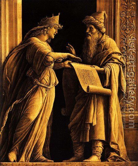 A sibyl and a prophet by Andrea Mantegna - Reproduction Oil Painting