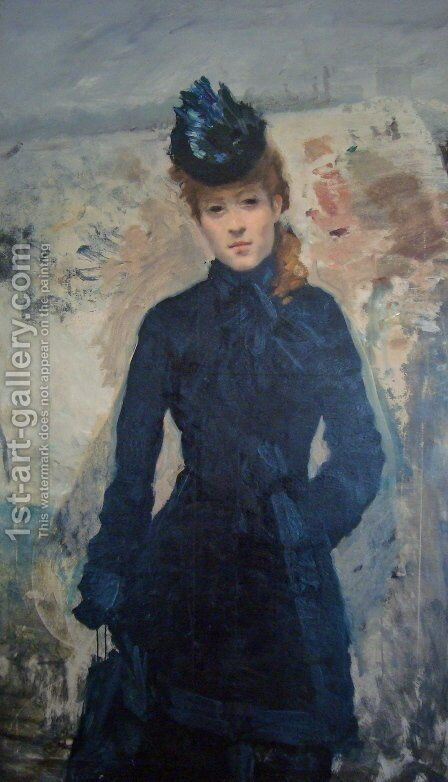 Promenade Hivernale by Giuseppe de Nittis - Reproduction Oil Painting