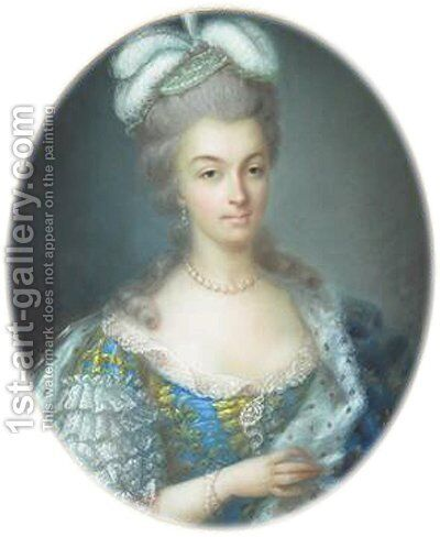 Portrait of Marie Antoinette by Anne Vallayer-Coster - Reproduction Oil Painting