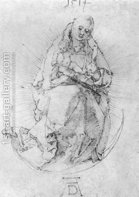 Crescent Madonna by Albrecht Durer - Reproduction Oil Painting