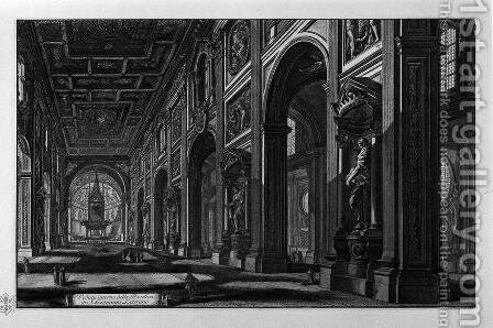 Egyptian Obelisk in the Plaza of St. John Lateran by Giovanni Battista Piranesi - Reproduction Oil Painting