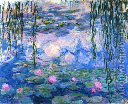 Water Lilies 48 by Claude Oscar Monet - Reproduction Oil Painting