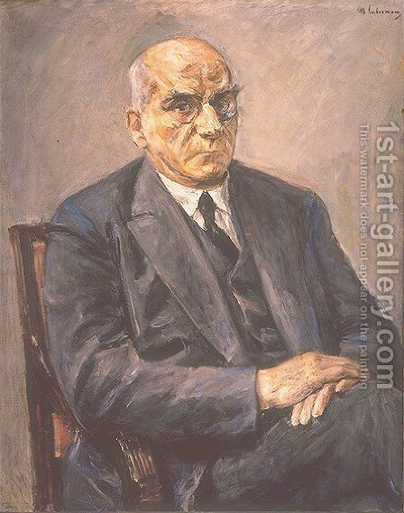 Portrait of Otto Braun by Max Liebermann - Reproduction Oil Painting
