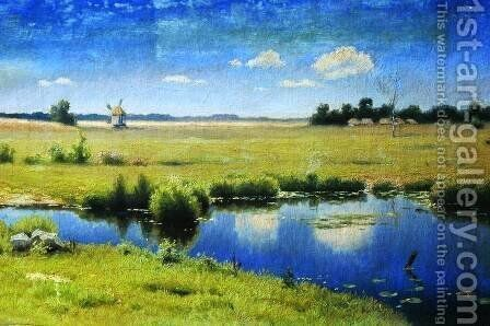 River in Ukraine by Efim Efimovich Volkov - Reproduction Oil Painting