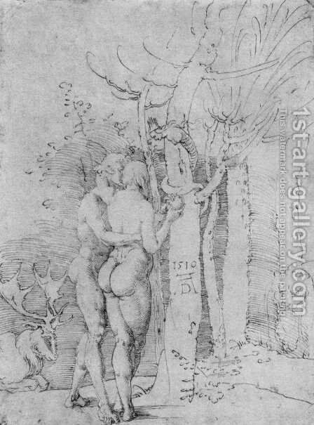 Adam and Eve 4 by Albrecht Durer - Reproduction Oil Painting