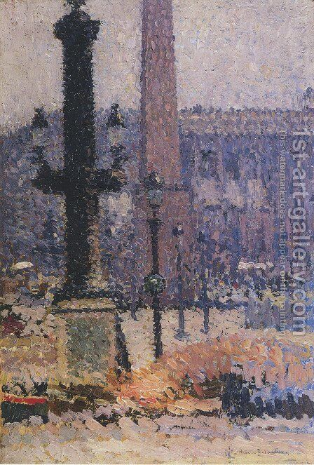 Square Concorde by Henri Martin - Reproduction Oil Painting