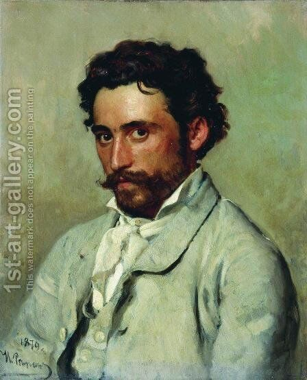 Portrait of Yurkevich by Ilya Efimovich Efimovich Repin - Reproduction Oil Painting