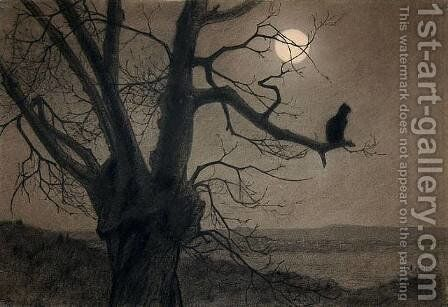 Cat in the moonlight by Theophile Alexandre Steinlen - Reproduction Oil Painting