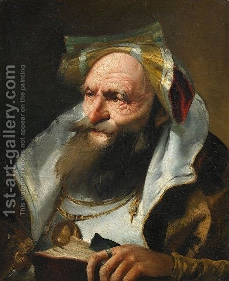 Head of a Scholar by Giovanni Domenico Tiepolo - Reproduction Oil Painting