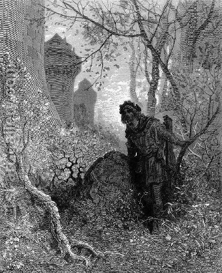 Blondel hears the voice of Richard the Lionheart by Gustave Dore - Reproduction Oil Painting
