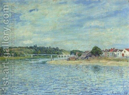 The Seine at Saint Mammes by Alfred Sisley - Reproduction Oil Painting