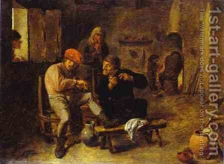 In the Tavern 2 by Adriaen Brouwer - Reproduction Oil Painting