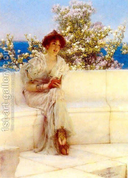 The Year s at the Spring. All s Right with the World by Sir Lawrence Alma-Tadema - Reproduction Oil Painting