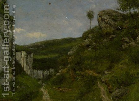 Landscape 3 by Gustave Courbet - Reproduction Oil Painting