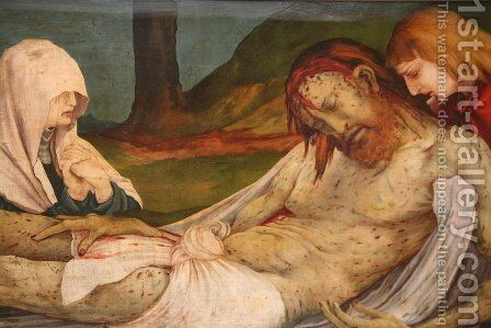 The Entombment (detail from the Isenheim Altarpiece) by Matthias Grunewald (Mathis Gothardt) - Reproduction Oil Painting