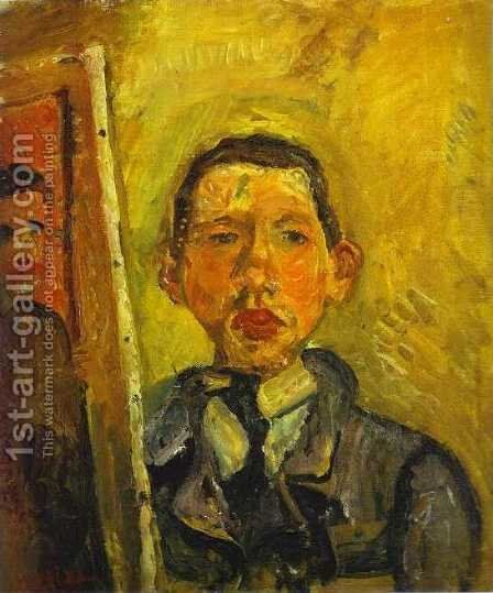 Self Portrait by Chaim Soutine - Reproduction Oil Painting