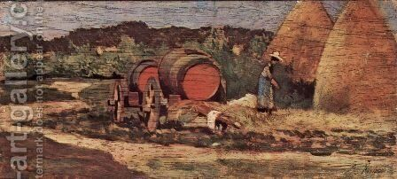 Die roten Fasser by Giovanni Fattori - Reproduction Oil Painting