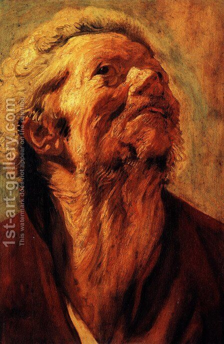 Study of the head of Abraham Grapheus by Jacob Jordaens - Reproduction Oil Painting