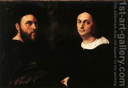 Portrait of Andrea Navagero and Agostino Beazzano by Raphael - Reproduction Oil Painting