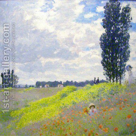Walk in the Meadows at Argenteuil by Claude Oscar Monet - Reproduction Oil Painting