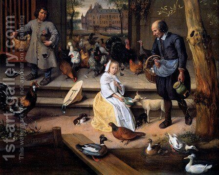 Court by Jan Steen - Reproduction Oil Painting