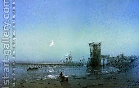 Seascape 2 by Ivan Konstantinovich Aivazovsky - Reproduction Oil Painting