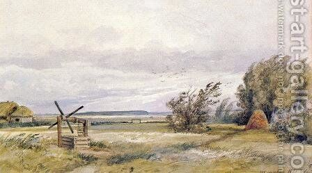 Shmelevka. Windy day by Ivan Shishkin - Reproduction Oil Painting