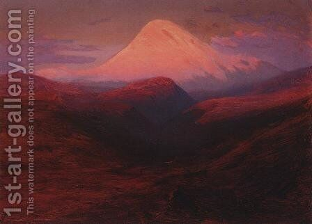 Elbrus in the Evening by Arkhip Ivanovich Kuindzhi - Reproduction Oil Painting