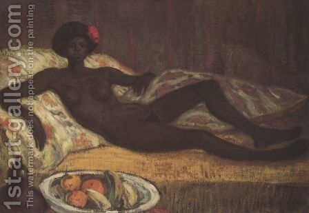 Massaida on the Divan by Theophile Alexandre Steinlen - Reproduction Oil Painting