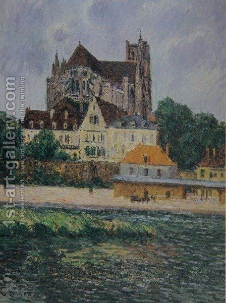 The Auxerre Cathedral by Gustave Loiseau - Reproduction Oil Painting