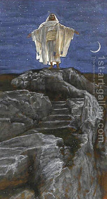 Jesus Goes Up Alone onto a Mountain to Pray by James Jacques Joseph Tissot - Reproduction Oil Painting