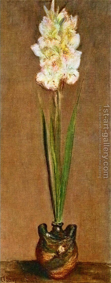 Gladiolus by Claude Oscar Monet - Reproduction Oil Painting