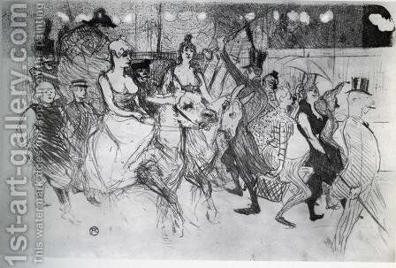 Gala at the Moulin Rouge by Toulouse-Lautrec - Reproduction Oil Painting