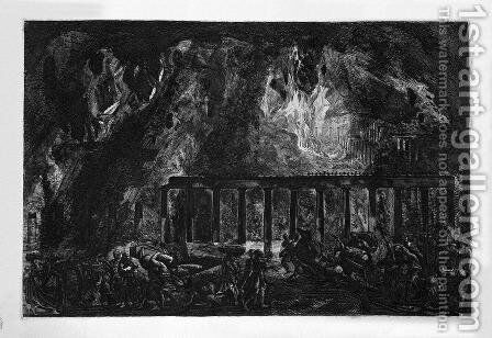 Index of the first volume by Giovanni Battista Piranesi - Reproduction Oil Painting