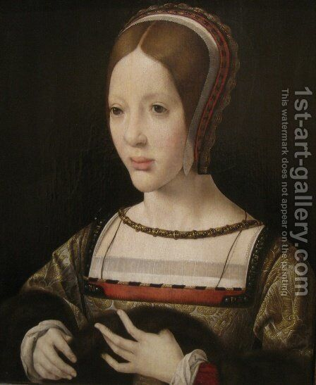 Queen Eleanor of Austria by Jan (Mabuse) Gossaert - Reproduction Oil Painting