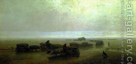 Chumaks path in Mariupol by Arkhip Ivanovich Kuindzhi - Reproduction Oil Painting