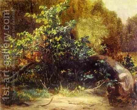At the Forrest Edge by Mikhail Ivanovich Lebedev - Reproduction Oil Painting