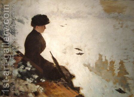 Snow Effect by Giuseppe de Nittis - Reproduction Oil Painting