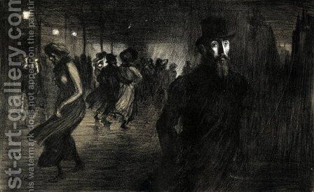 Soliloque Cover by Theophile Alexandre Steinlen - Reproduction Oil Painting